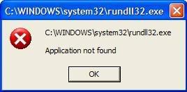 rundll32.exe error