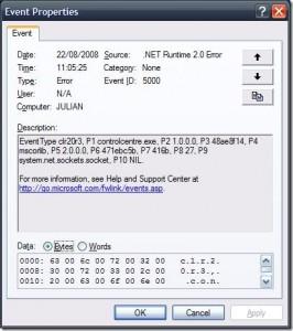 clr20r3 error