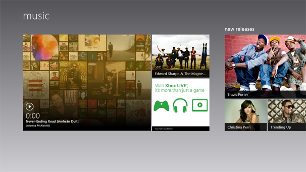 windows 8 music app