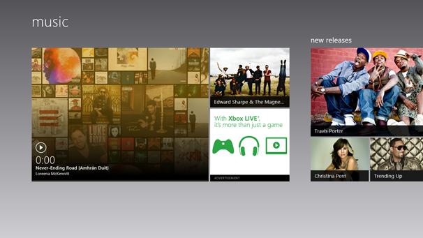 windows 8 music app