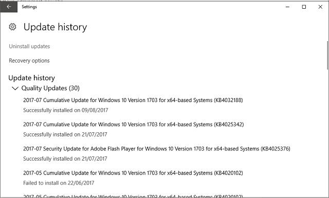 update error 0x80070652