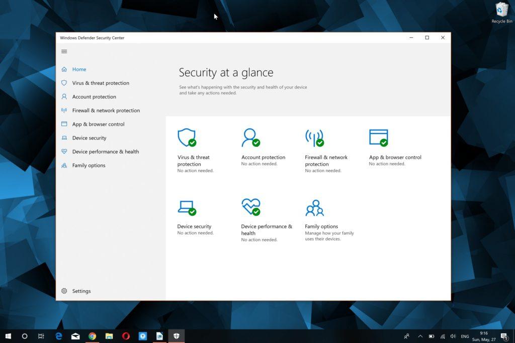 Windows Defender can't start