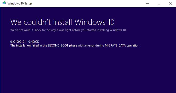 Windows 10 Update Error Code 0x8007042B – 0x4000D